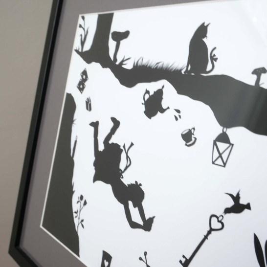 Scherenschnitt fuers Kinderzimmer - Detail Bild