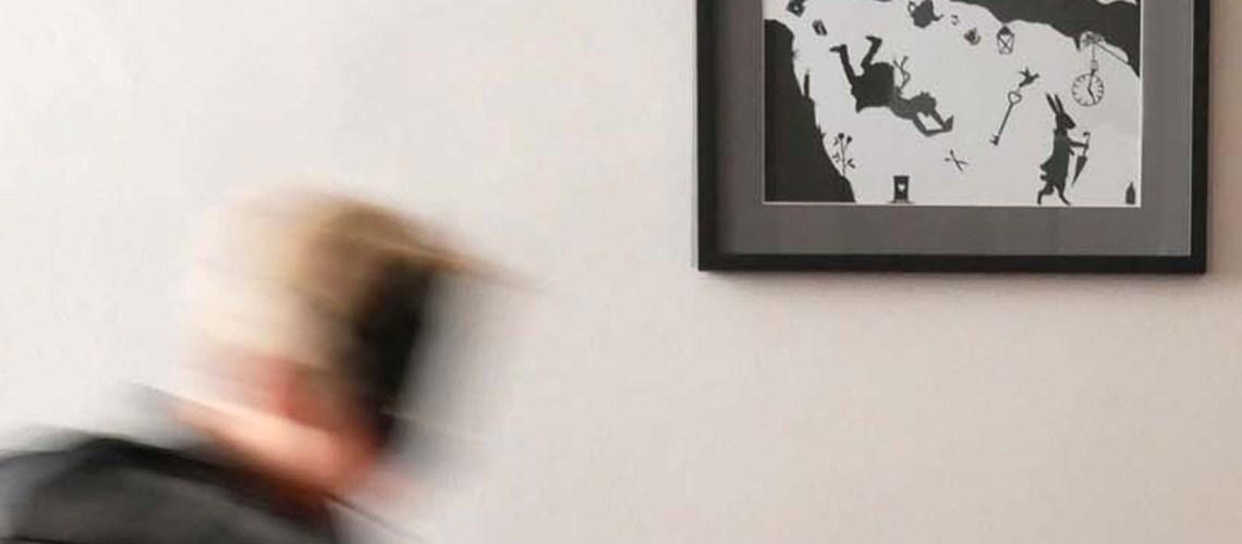 Unser Scherenschnitt fürs Kinderzimmer – die schwarz-weiße Magie