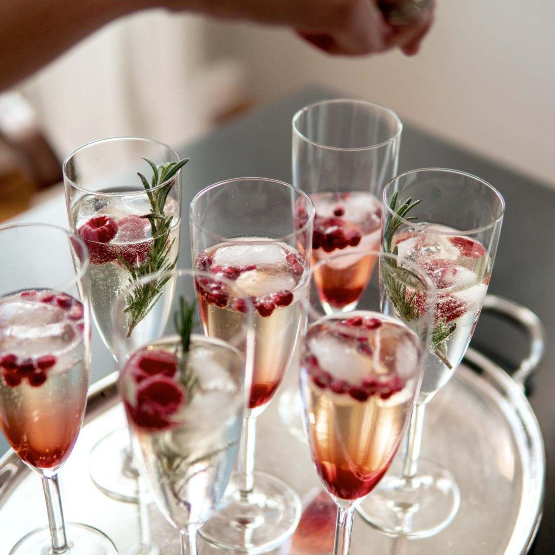 Weihnachtliche Champagner-Cocktails - Zugaben