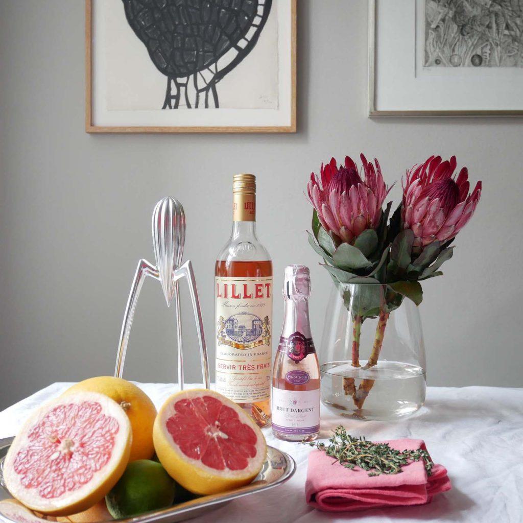 Coral & Citrus - Lillet Pink Drink Zutaten