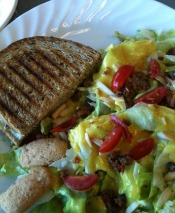 Chicken Pesto Panini & Carolina Classic Salad