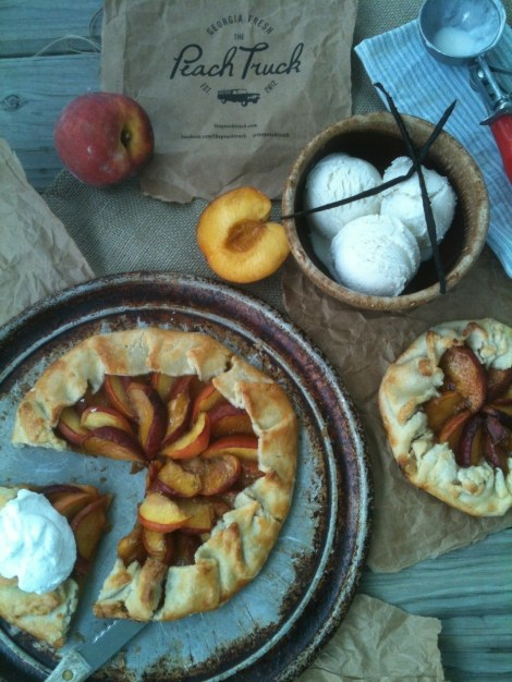 Peach Bourbon Crostata: Recipe by The Local Forkful