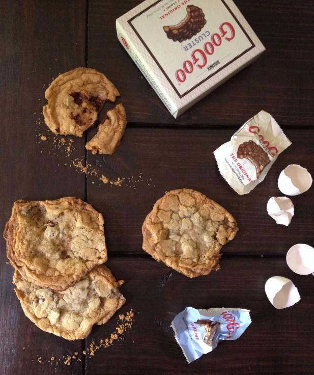 Goo Goo Cluster Chocolate Chip Cookies