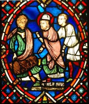 Saint Blaise confronting the Roman governor source
