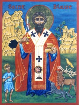 St. Blaise Icon. Source.