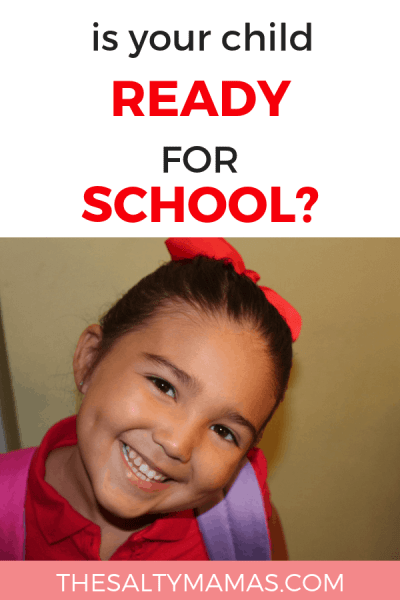 Is your child ready to start school? Whether it's preschool, transitional kindergarten, or kindergarten itself, don't forget these 10 skills that they NEED to have before they start. Find them all at TheSaltyMamas.com.