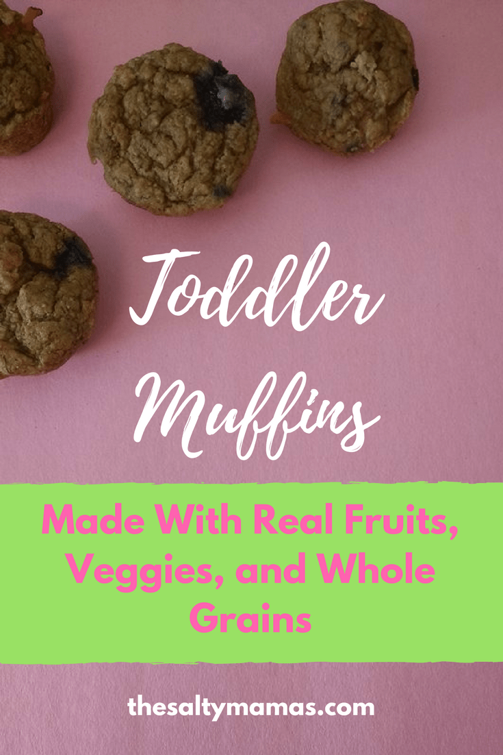 These healthy toddler muffins are made with real fruits, veggies, and whole grains- and your kids will actually gobble them up! From thesaltymamas.com