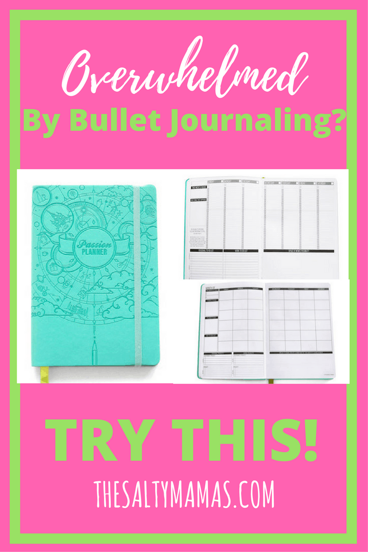 Overwhelmed by the idea of starting a bullet journal? We've got the perfect solution for you in the Passion Planner! Read more at thesaltymamas.com