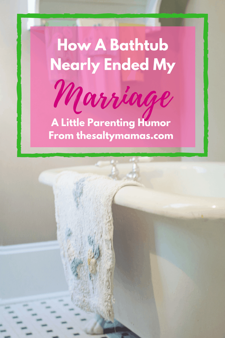 When you're accused of poop-related vandalism by your own HUSBAND? Well, all you can do is laugh. More parenting and marriage humor, from thesaltymamas.com. #parentinghumor #momlife #marriedlife