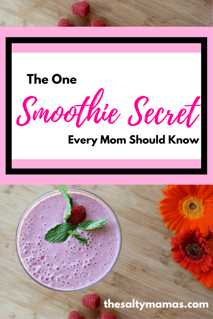 Looking for the perfect smoothie? Click here to find out our secret, and giggle along with thesaltymamas.com. #smoothie #secretrecipe
