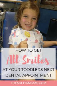 #toddlertips #toddlerhacks #raisingtoddlers #dentisttips #dentisthacks #firsttriptothedentist #pediatricdentist #whenshouldmykidgotothedentist #whenshoulditakemykidtothedentist #scaredofthedentist #dentistforkids #bestkidsdentist #kidsdentist #happysmiles #1sttriptodentist #scaredofthedentist #overcomingfearofthedentist #howtonotbescaredofthedentist #goingtothedentist #firsttimegoingtothedentist #talkingtokidsaboutdentist #booksaboutdentist #momlife #mommyblogger #saltymama #saltymamatips #saltymamahacks #thesalties #toddlermom #babymom #preschoolers #preschoolmom