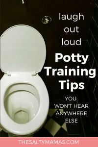 Rule Number One: No wearing boots. Find more hilarious tips at TheSaltyMamas.com. #pottytraining #terribletwos #toilettraining #potty #parenting #toddler