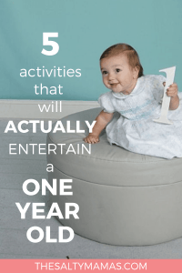 Fine five activities that are guaranteed to entertain your one year old! from The Salty Mamas! #toddlers #howtoentertaintoddlers #howtoentertainbabies #toystoentertaintoddlers #besttoysfortoddlers #bestbooksfortoddlers #bestgamesfortoddlers #bestbookforbaby #bestbooksforbabies #bestgameforbabies #bestgamesforbabies #besttoyforbaby #besttoysforbabies