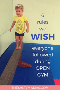 Help make tumbling a whole lot more fun for EVERYONE with these 6 simple rules! #opengym #tumbling #kidsgymnastics #toddlergymnastics #minigymnast #somersaults #summersaults #letsplay #playforkids #toddlerplay #YMCA #YMCAclasses #gymnasticsattheYMCA #itsfuntogototheYMCA