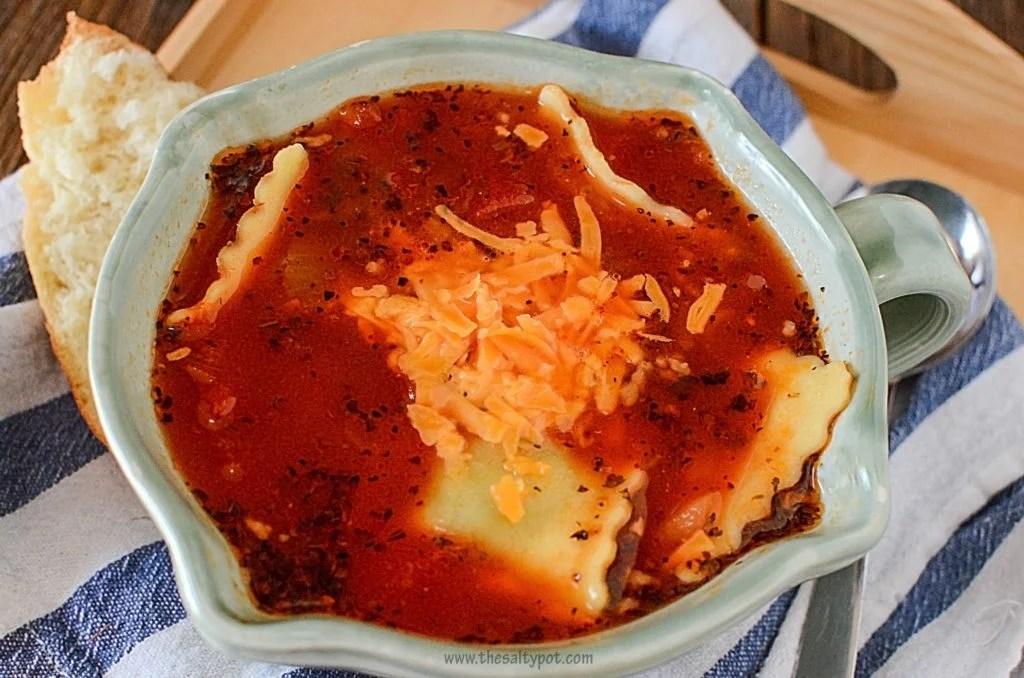 Ravioli soup 2 in the crock pot