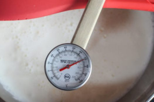 the right temperature to make your own cheese