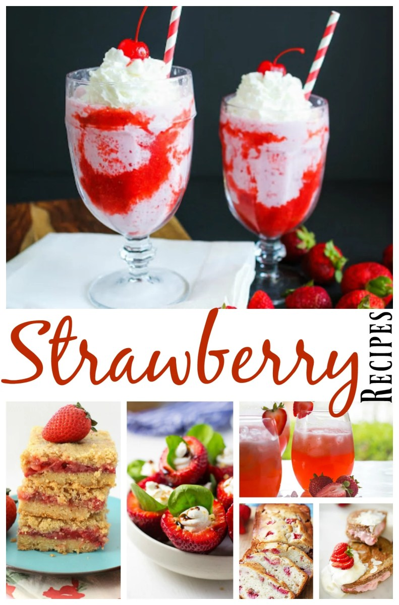 20 luscious, scrumptious fresh strawberry recipes!