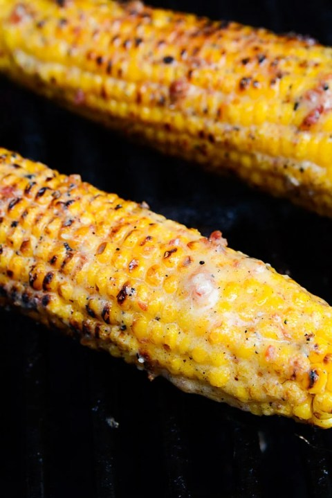 grilling corn on the cob Bacon