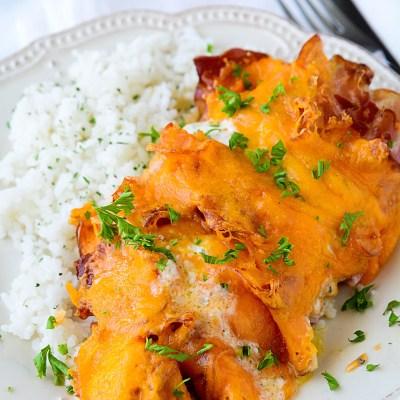 chicken pancetta and cheddar bake