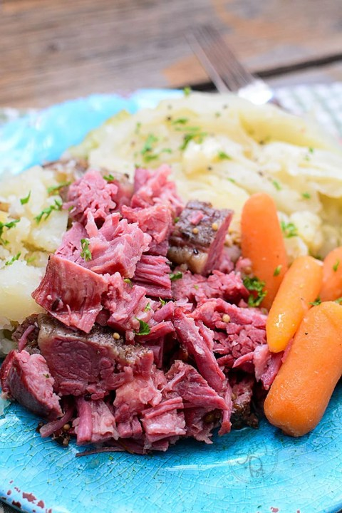 Instant Pot Shredded Corned Beef and Cabbage is a super easy way to cook a beef brisket that is typically really tough. A bonus is that you can also cook it in the slow cooker! It's a great and tasty meal that's ideal for St. Patrick's day or any holiday recipe!