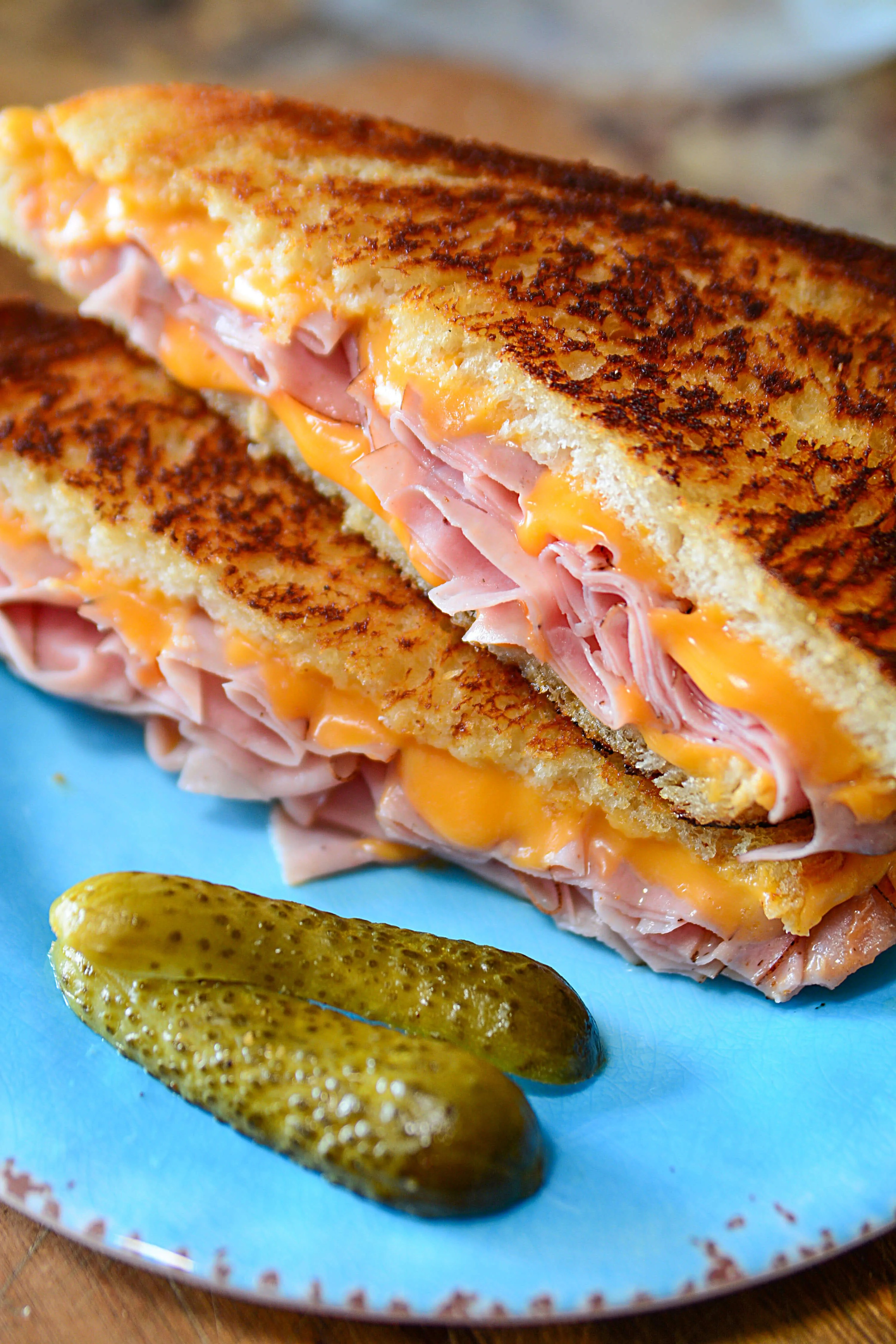 Delicious Grilled Ham And Cheese Sandwich