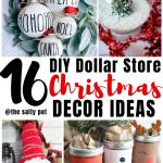 16 Dollar Store Diy Christmas Decor Ideas The Salty Pot