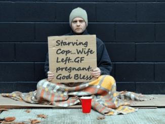 Cop Begging