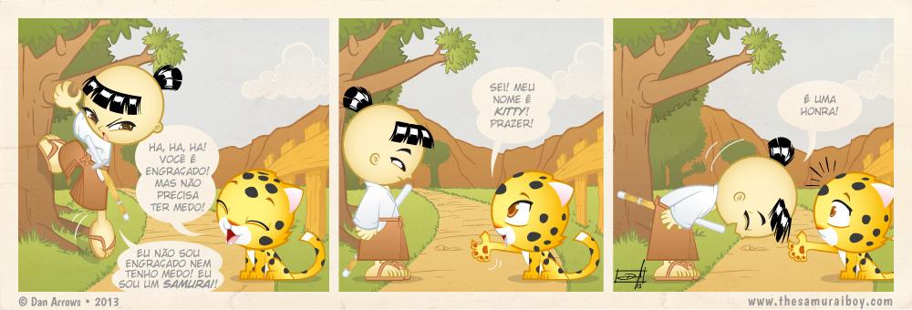 Muito prazer, Kitty! O Samurai Boy faz um novo amigo