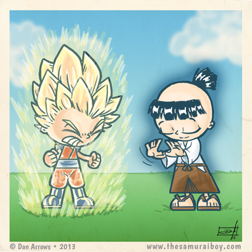 O Ki do Saiyajin X o Ki do Samurai - by Dan Arrows Samurai Boy