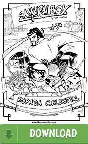 Arte para colorir - Samurai Boy: A Espada Celestial