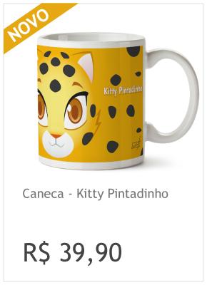 Caneca Kitty Pintadinho - R$ 39,90