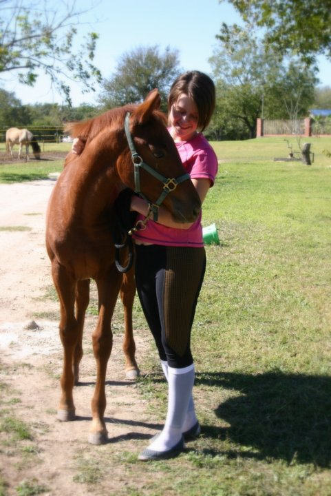 Bailey and a young mare Joy