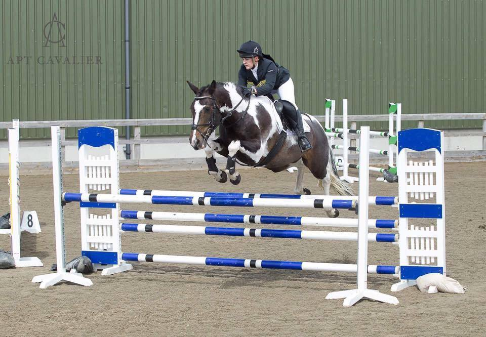 Sarah owner of Apt Cavalier competing