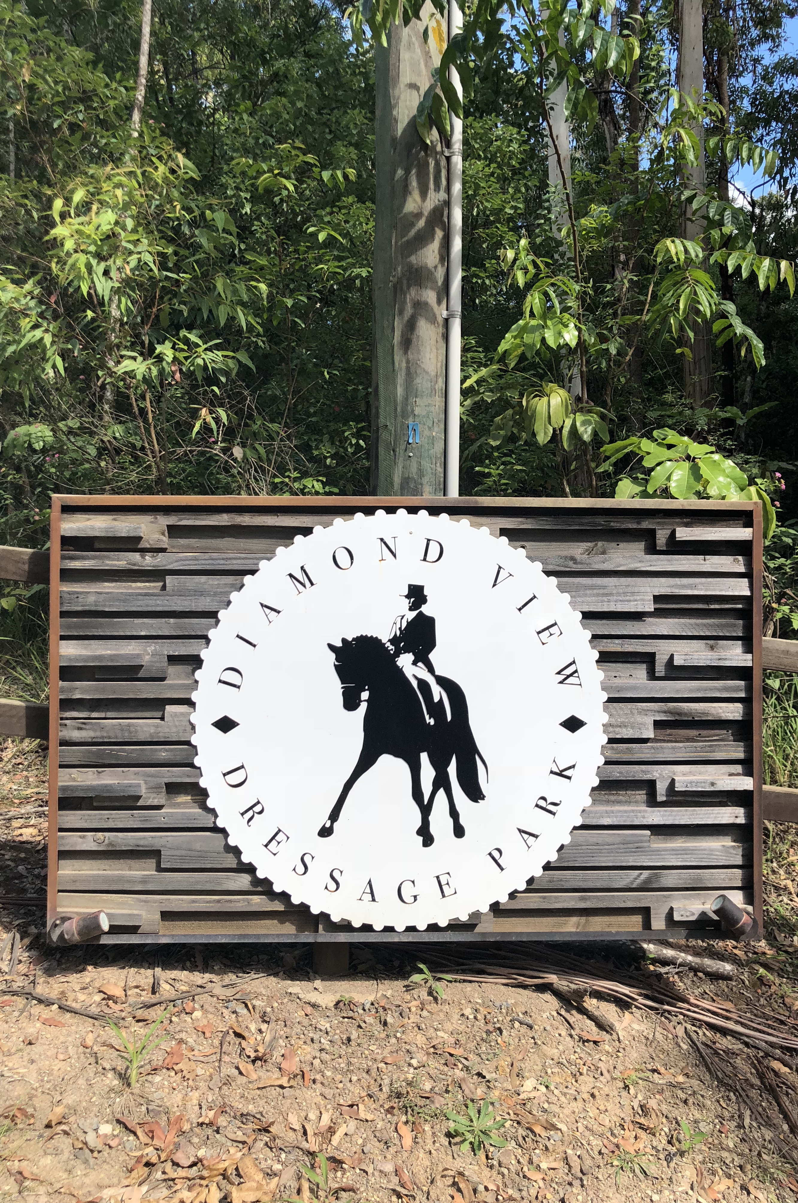 The entry to Diamond View Dressage Park - I have a plan to take lesson with Danielle this weekend