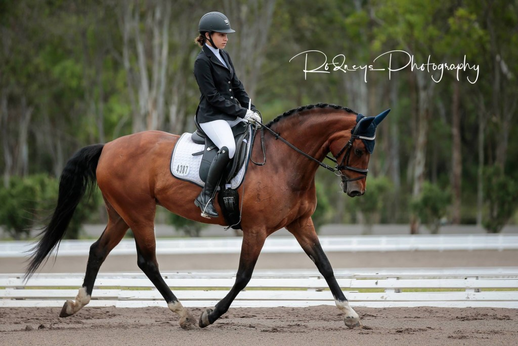 Australian dressage rider shares how someone else comments negatively impacted upon her body image