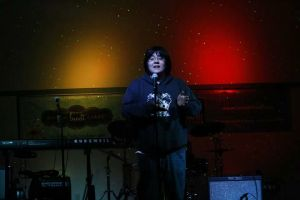 Austin Schumacher (Award for best spoken word) Open Mic Picture Credit - Hope Griffin-Ortiz