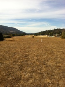 The entire length of the beautiful Carmel Valley Airport.
