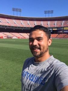 Sports Medicine teacher Jay Christensen as an athletic trainer for the San Jose Earthquakes.