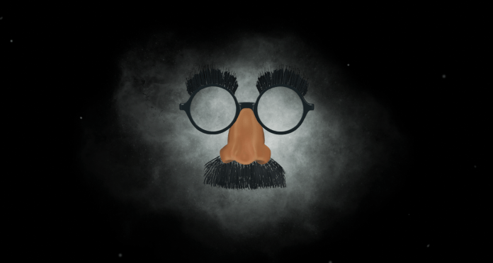 Gaucho glasses floating in front of a cloud of smoke on a mysterious black background