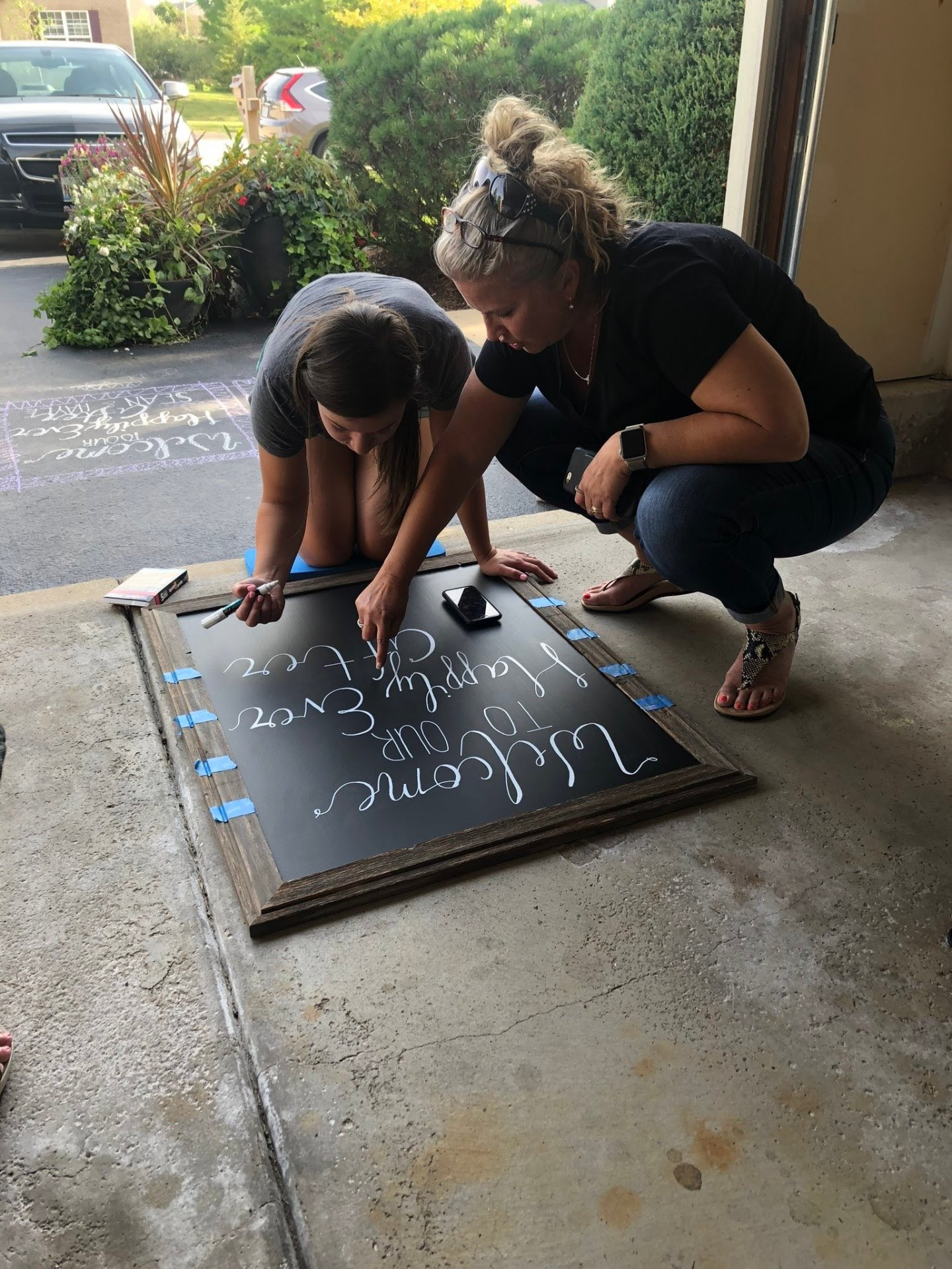 Creating a Chalkboard Sign for a Crystal Lake, Illinois Wedding