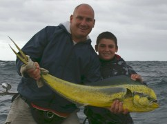 Douglas and his first Dorado caught off Durban last year...