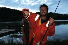 A Mydo Luck Shot Mini caught flathead in the Umzimkulu River