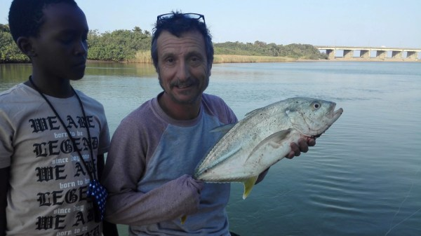 Victor and Sean Greenspot Kingfish in the Umzimkulu