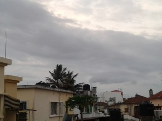A cold front moves in over Maputo...