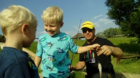Fishing lessons from the kids at Footloose Trout Farm