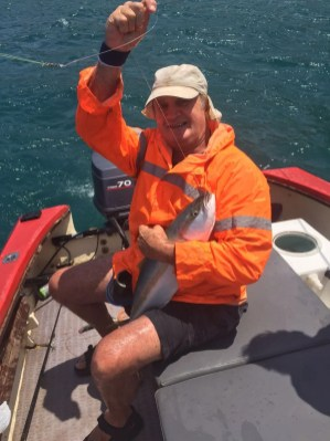 Transkei fishing. Brian Lange with yellowtail