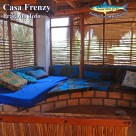 Another comfy seating area that doubles as a sleeper, with mozzie net. Casa Franzy