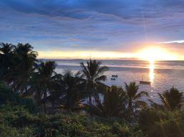 The sun rising over Bazaruto Island