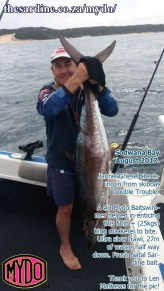 Jannie Griesel with his Mydo caught couta at Sodwana this last weekend.