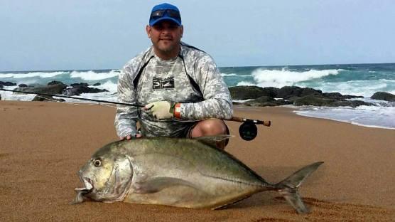 JP huge kingfish on fly